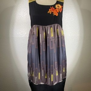 Johnny Was Whitley Santal Embroidered dress NWT S